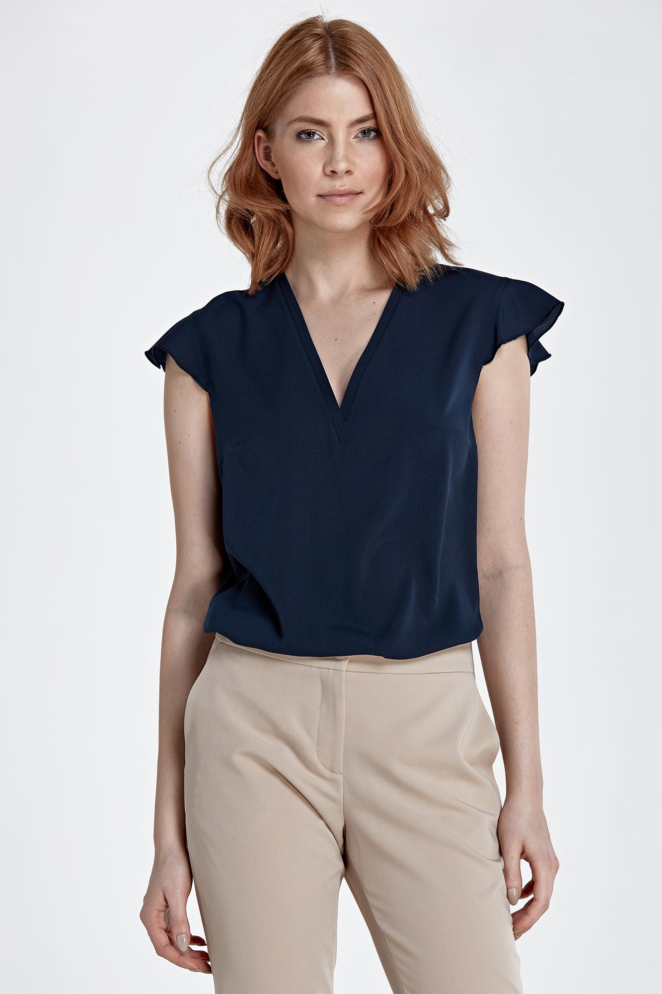 NIFE B76 блузка темно-синяя